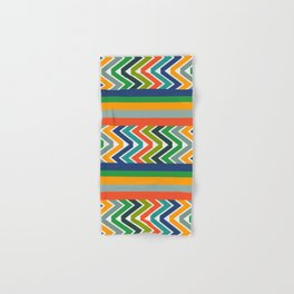 Multicolored stripes and waves Hand & Bath Towel