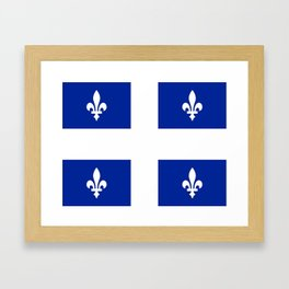 Flag of Quebec Framed Art Print