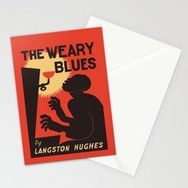 Retro The Weary Blues (music) Stationery Cards