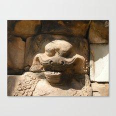 Angkor Wat wall carving Canvas Print