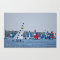 racing Canvas Prints featuring Racing by Nonna Originals