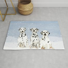 Dalmatians in the Snow Rug