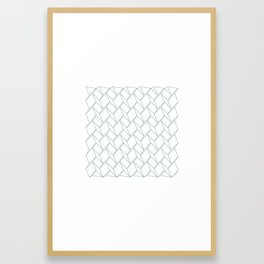 #317 Space-time – Geometry Daily Framed Art Print
