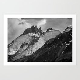 Patagonian Mountains Art Print