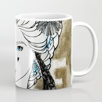 marie antoinette Mugs featuring Marie Antoinette by Makissima
