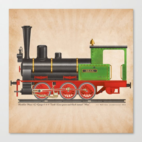 Locomotive Max Canvas Print