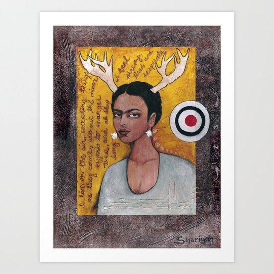 Frida's Diary Art Print