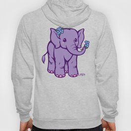Baby Elephant has Forget Me Nots Hoody