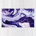Blue, Pink, White and Purple Marble by larajane