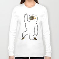 eat Long Sleeve T-shirts featuring Eat Eat Eat by Jarvis Glasses