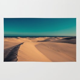 Sunset over the sand dunes Rug