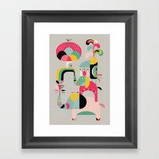 Jungle of elephants Framed Art Print