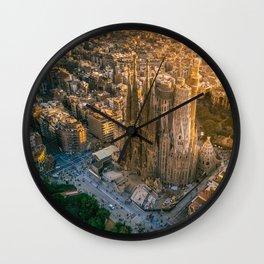 Scale of Sagrada Familia Wall Clock
