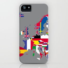 Europe flags grey iPhone Case