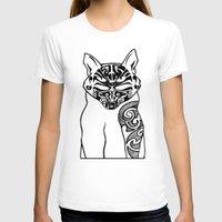 maori T-shirts featuring Maori Kitty by Sofy Rahman
