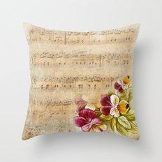 Vintage music #7 Throw Pillow