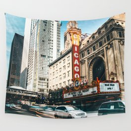 chicago street Wall Tapestry