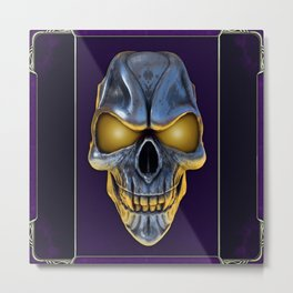 Skull with glowing purple eyes Metal Print