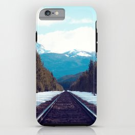 Train to Mountains iPhone Case