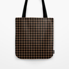 Classic Brown Coffee Country Cottage Summer Buffalo Plaid Tote Bag