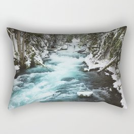 The Wild McKenzie River - Nature Photography Rectangular Pillow