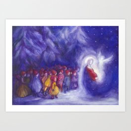Mother Mary and the Children Art Print