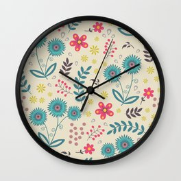 Floral background Wall Clock