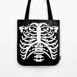 Human Rib Cage Pattern Black and White 2 Tote Bag