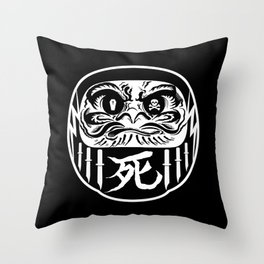 Felonious Daruma Throw Pillow