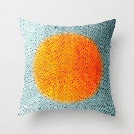Fabric-like Orange Throw Pillow