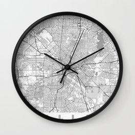 Dallas Map Line Wall Clock
