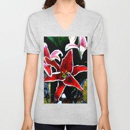 Tiger Lily jGibney The MUSEUM Society6 Gifts Unisex V-Neck