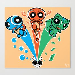 PokePuff Monsters Canvas Print
