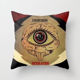 Concious Revolution  Throw Pillow