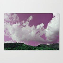emerald hills purple skies Canvas Print