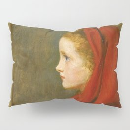 "John Everett Millais ""Red Riding Hood (A Portrait of Effie Millais, the artist's daughter)"" Pillow Sham"