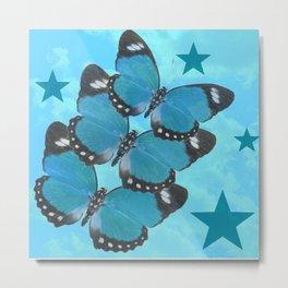 Butterflies and Stars Metal Print
