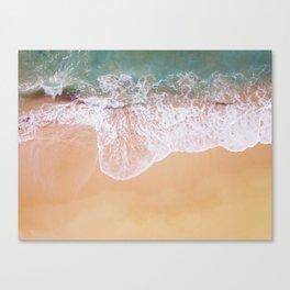 Sea and sand, crashing waves Canvas Print