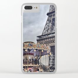 Round We Go Clear iPhone Case