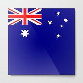 Australian Flag - Flag of Australia Metal Print