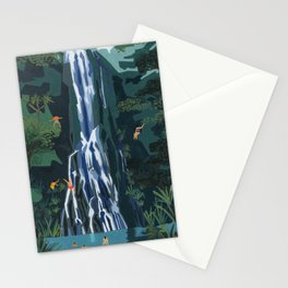Waterfall stop Stationery Cards