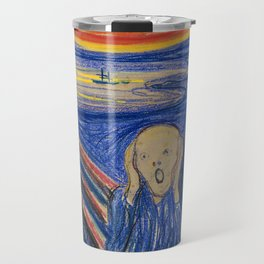 The Scream by Edvard Munch Travel Mug