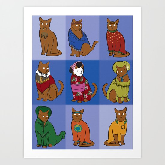 The Nine Lives of Felis Catus Art Print