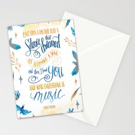 SILENCE THAT DREAMED OF BECOMING A SONG Stationery Cards