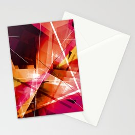 Outbreak - Geometric Abstract Art Stationery Cards