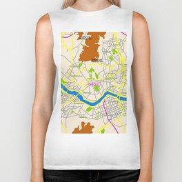 Seoul map Design Biker Tank