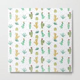 Cactus SERIE - CACTI LOVE Metal Print
