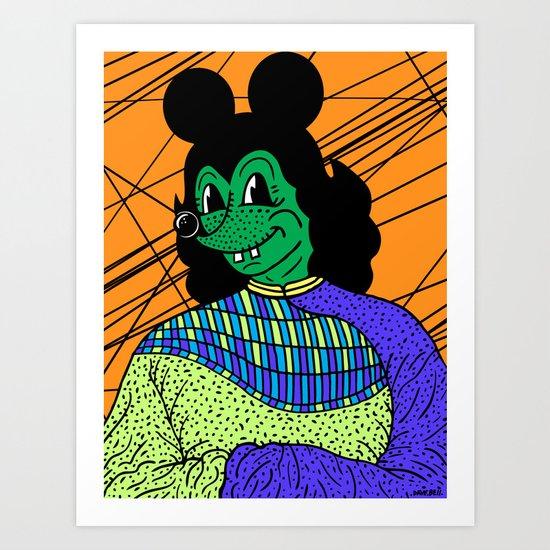 THE GREEN LADY. Art Print