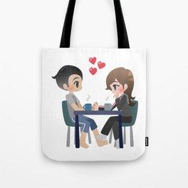 Mass Effect - Shepard and Kaidan Late Night Tote Bag