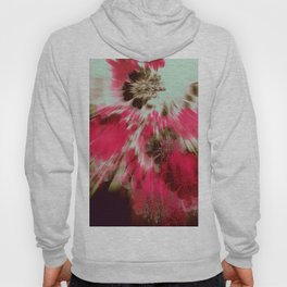 floral burst in hot pink Hoody